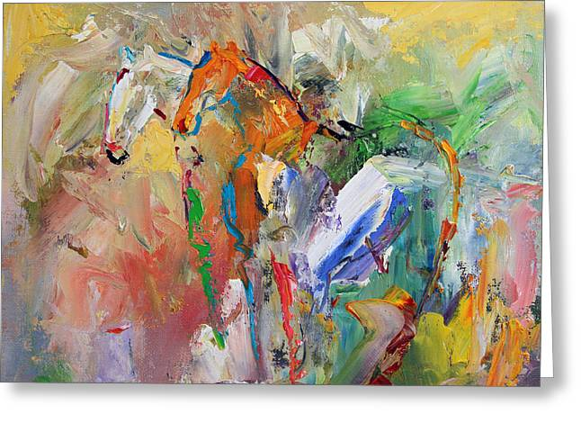 Two Together Horse 29 2014 Greeting Card