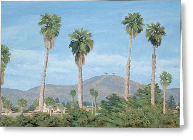 Two Tree's From Ventura State Park Greeting Card by Tina Obrien