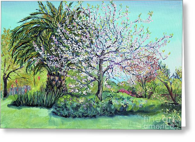 Two Trees Like Springtime Lovers Greeting Card