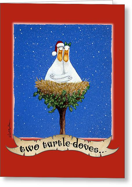 Two Turtle-doves... Greeting Card