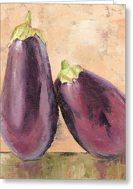 Two Tuscan Eggplants Greeting Card