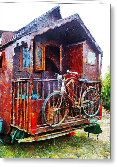 Two Wheels On My Wagon Greeting Card by Steve Taylor