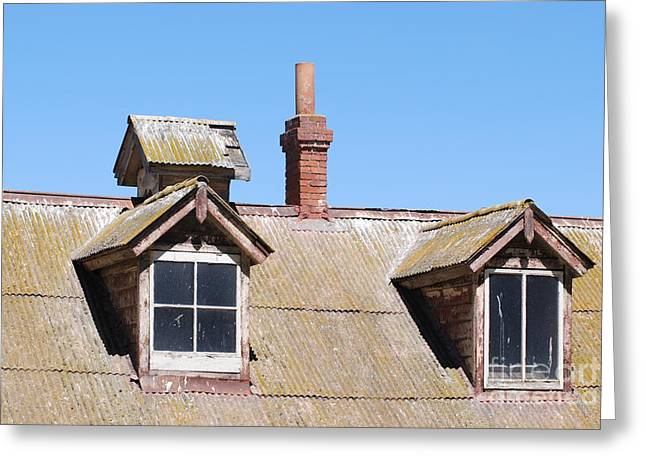 Two Window Roof Greeting Card