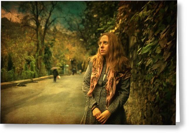 Two Winters I Greeting Card by Taylan Apukovska