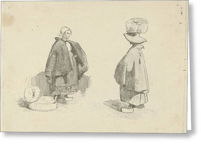 Two Women, Charles Rochussen Greeting Card