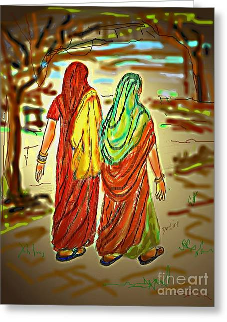 Two Women Greeting Card