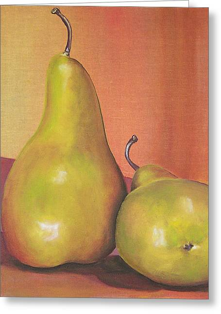 Two Yellow Pears Blenda Studio Greeting Card by Blenda Studio