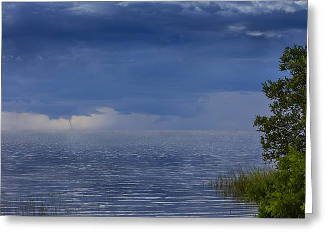 Twisting Water Greeting Card by Marvin Spates