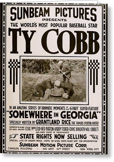 Ty Cobb - Movie Poster Greeting Card