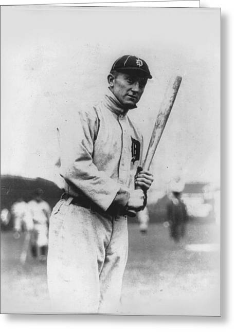 Ty Cobb Greeting Card by Unknown