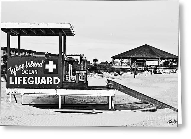 Tybee Island Lifeguard Stand Greeting Card by Melissa Sherbon