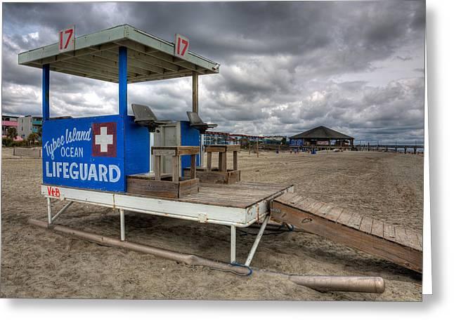Tybee Island Lifeguard Stand Greeting Card