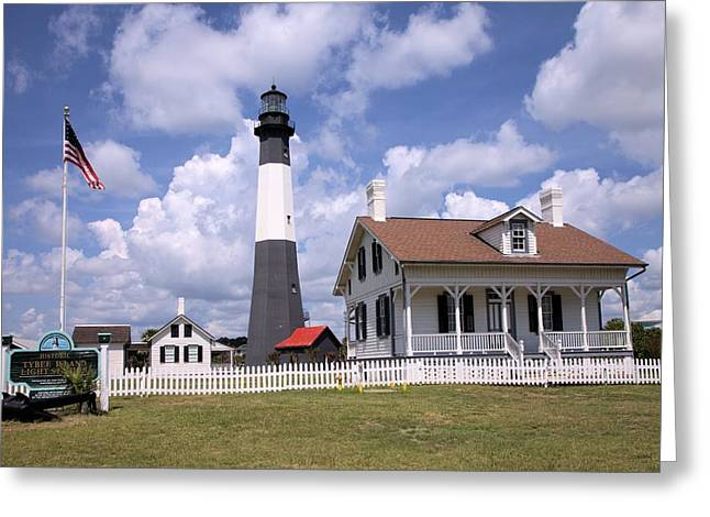 Greeting Card featuring the photograph Tybee Island Light by Gordon Elwell