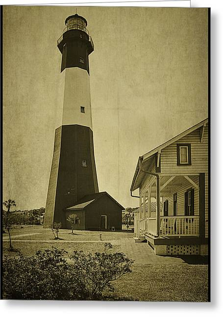 Tybee Island Light Station Greeting Card by Priscilla Burgers