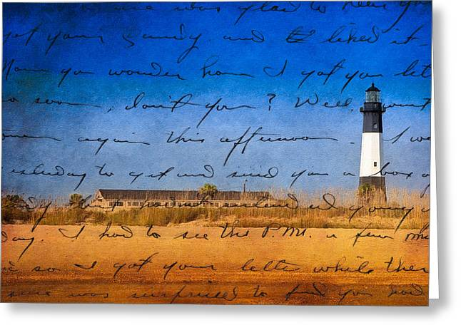 Tybee Island Lighthouse - A Sentimental Journey Greeting Card by Mark E Tisdale