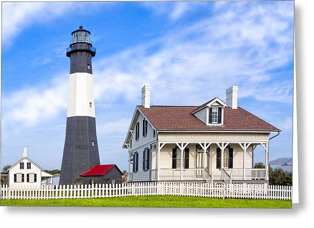 Tybee Island Lighthouse At Dawn Greeting Card