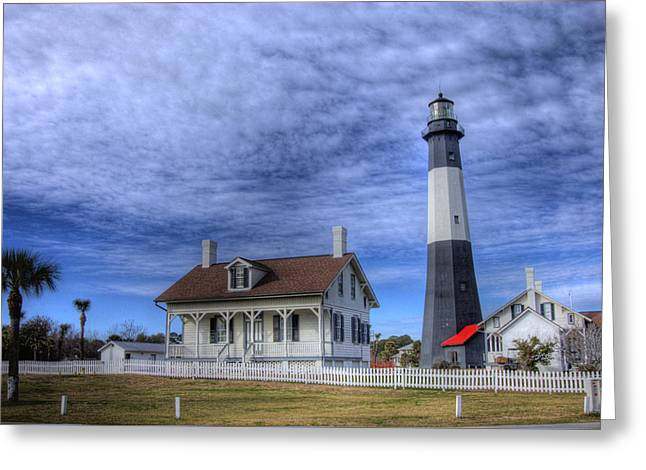 Tybee Island Lighthouse Greeting Card by Donald Williams
