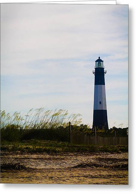 Tybee Island Lighthouse Greeting Card by Jessica Brawley