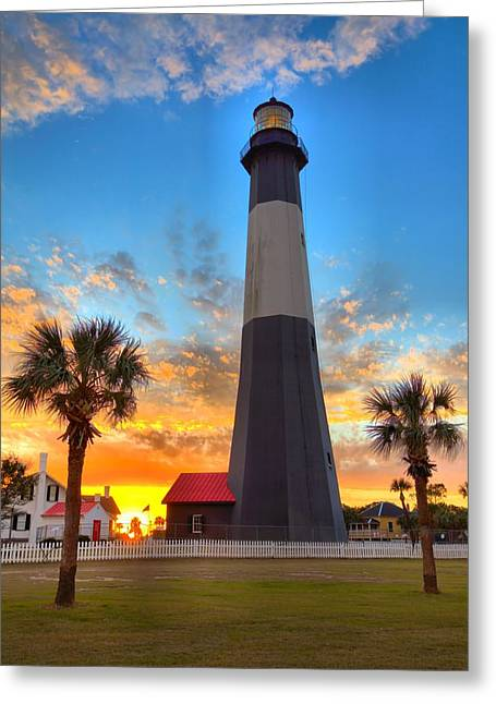 Tybee Island Sunrise Greeting Card by Gordon Elwell