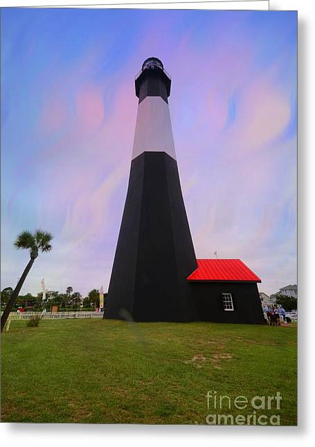 Tybee Island  Lighthouse Greeting Card by Kathleen Struckle