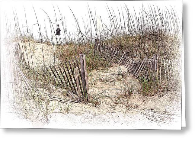 Tybee Lighthouse Greeting Card by Marcia Colelli