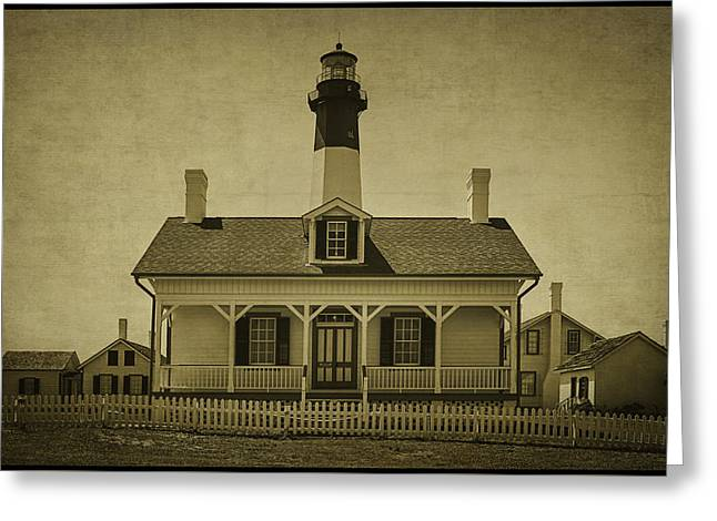 Tybee Lighthouse Greeting Card by Priscilla Burgers