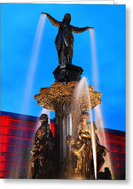 Tyler Davidson Fountain Greeting Card
