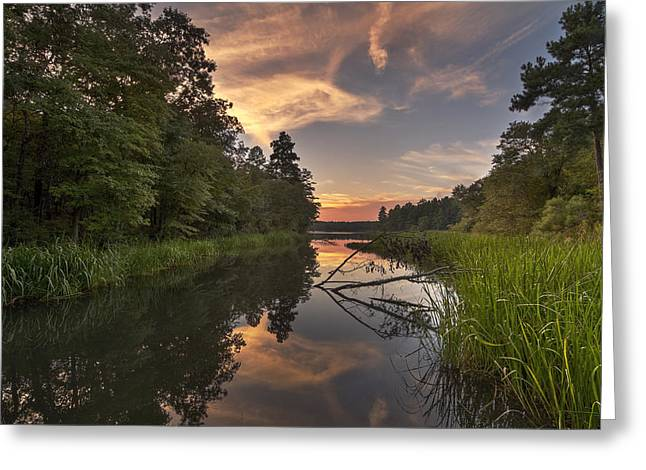 Tyler State Park Lake At Sunset Greeting Card