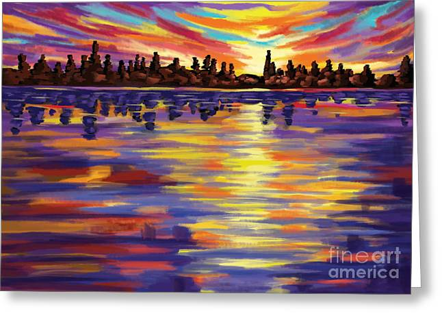 Greeting Card featuring the painting Tyler's Sunrise by Tim Gilliland