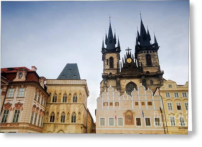 Tyn Church In Prague Greeting Card by Michal Bednarek