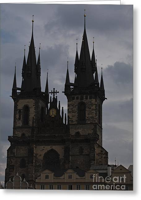 Tyn Curch Prague Greeting Card