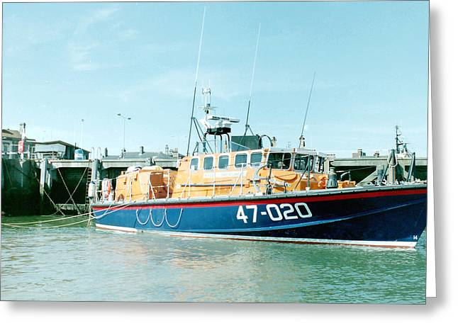 Tyne Class Lifeboat 47-020  Greeting Card by Ted Denyer