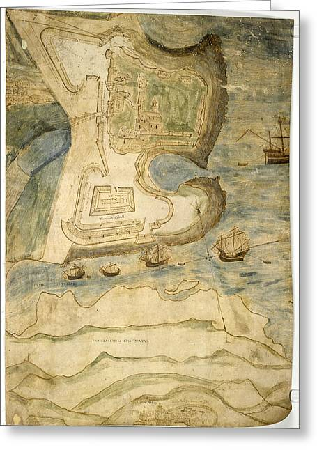 Tynemouth Castle Greeting Card by British Library
