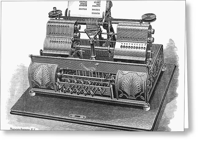 Typewriter, 1896 Greeting Card by Granger