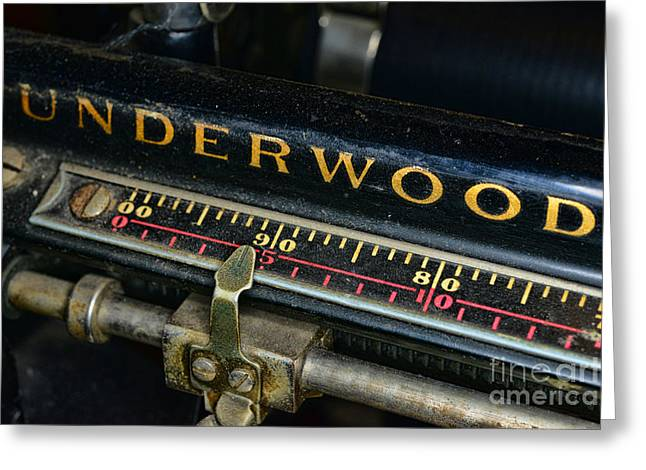 Typewriter Paper Guide Greeting Card by Paul Ward