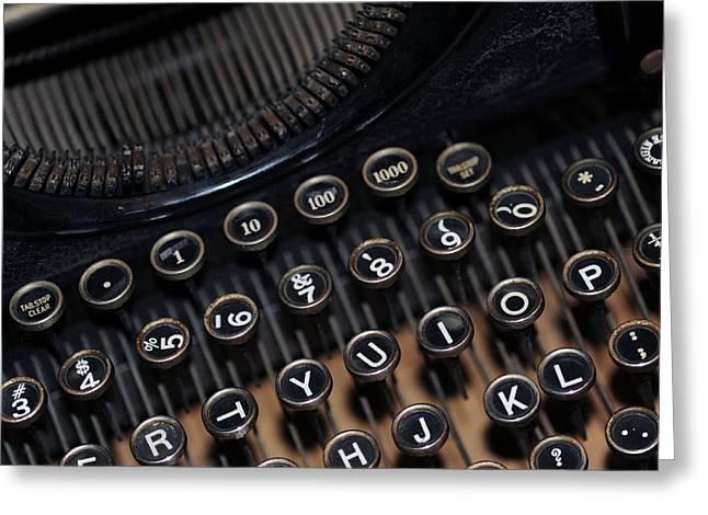 Typewriter Remembered Greeting Card by Harold E McCray