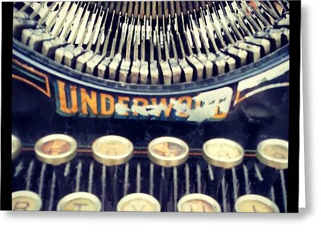#typewriter #steampunk #writing Greeting Card by Devin Muylle
