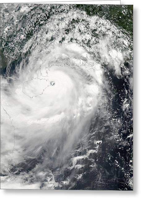 Typhoon Rammasun Greeting Card by Nasa Goddard Modis Rapid Response Team