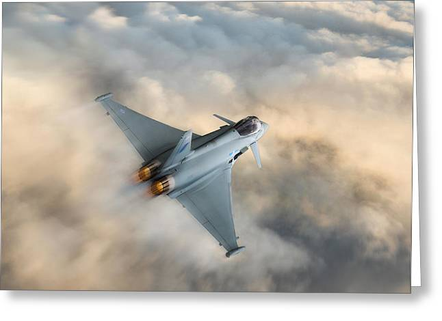 Typhoon Warning Greeting Card by Peter Chilelli