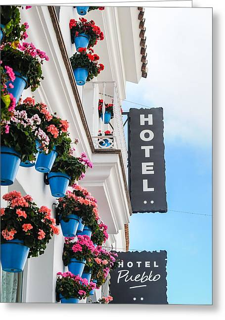 Typical Andalusian Hotel Greeting Card by Tetyana Kokhanets