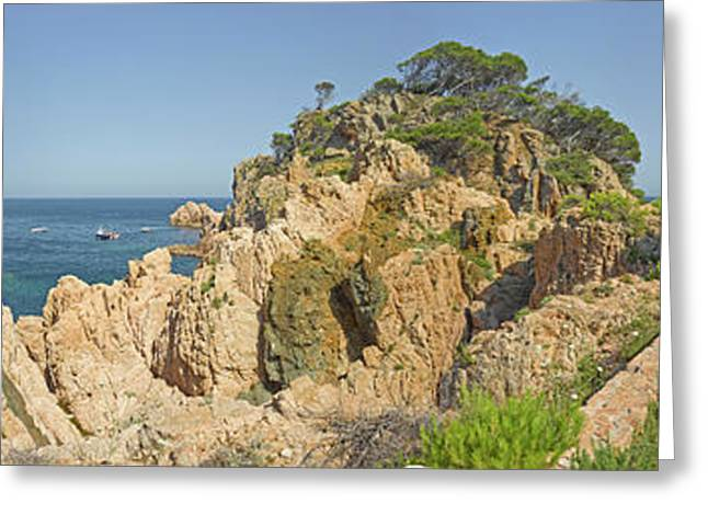 Typical Shore Landscape In Costa Brava Greeting Card