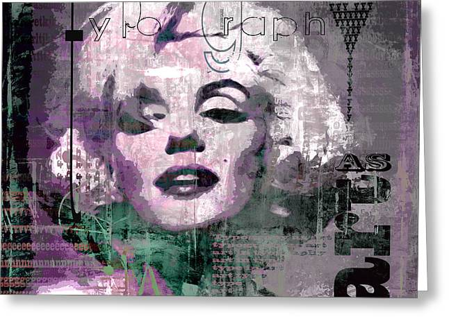 Greeting Card featuring the digital art typOGraphi by Kim Gauge