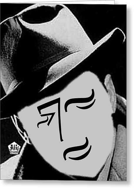 Typortraiture Humphrey Bogart Greeting Card