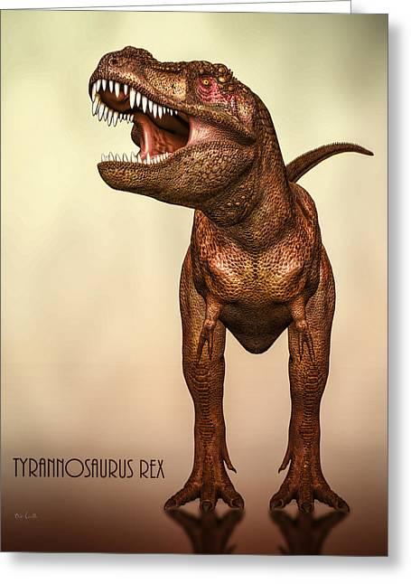 Tyrannosaurus Rex 2 Greeting Card