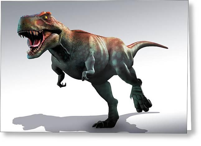 Tyrannosaurus Rex Artwork Greeting Card by Mark Garlick