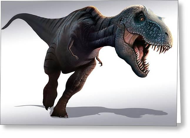 Tyrannosaurus Rex Greeting Card by Mark Garlick