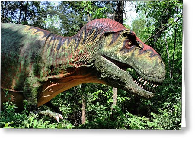 Tyrannosaurus Rex  T. Rex Greeting Card by Kristin Elmquist