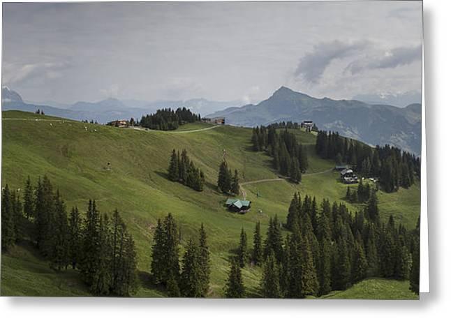 Tyrolean Panorama Greeting Card by Nigel Jones