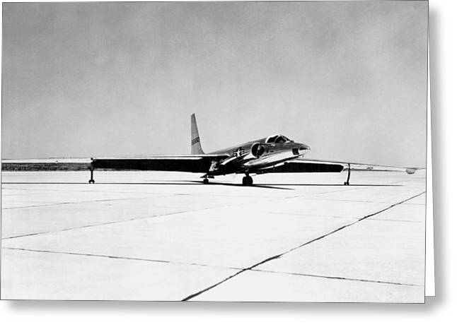 U-2 Reconnaissance Aircraft Greeting Card by Underwood Archives