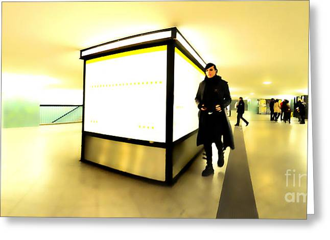 U-bahn Greeting Card by Phil Robinson
